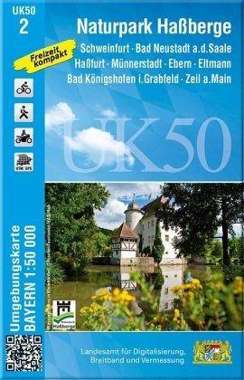 Topographische Karte Naturpark Haßberge